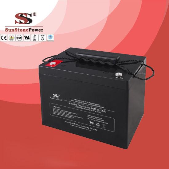 AGM Deep Cycle Battery 12V80ah for UPS Solar Battery
