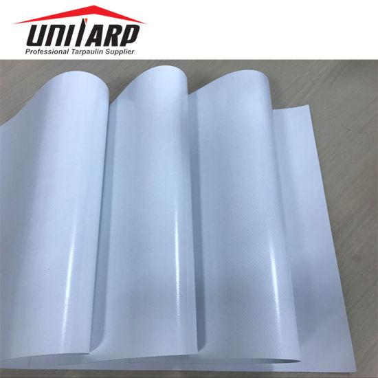 White 900GSM Printable UV Resistant Panama Weave Fabric Truck Tarpaulin