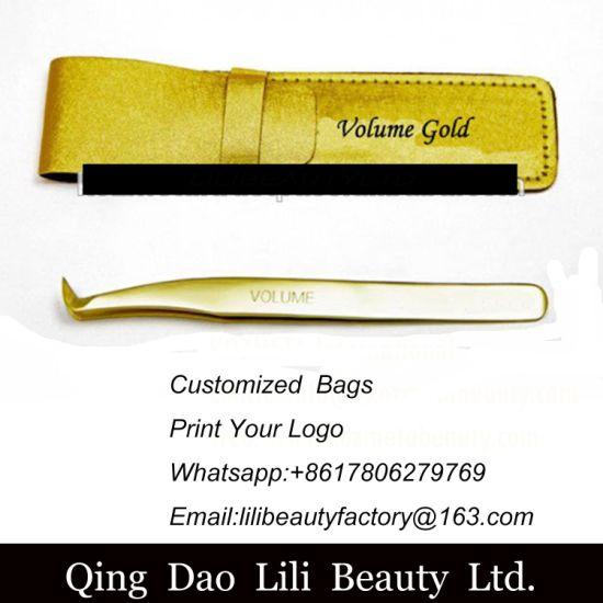 New Professional Gold Plated Volume Eyelash Extension Tweezers/ Finest  Volume Lash & Eyelash Application Tweezers