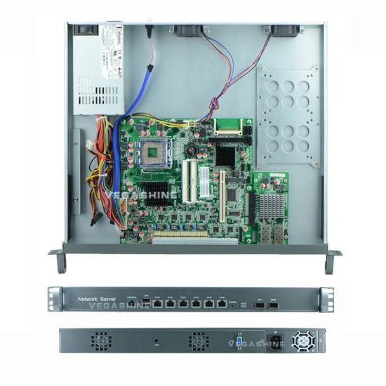 China 1u Rackmount Intel G41 Firewall Appliance / Router 6 Gigabit