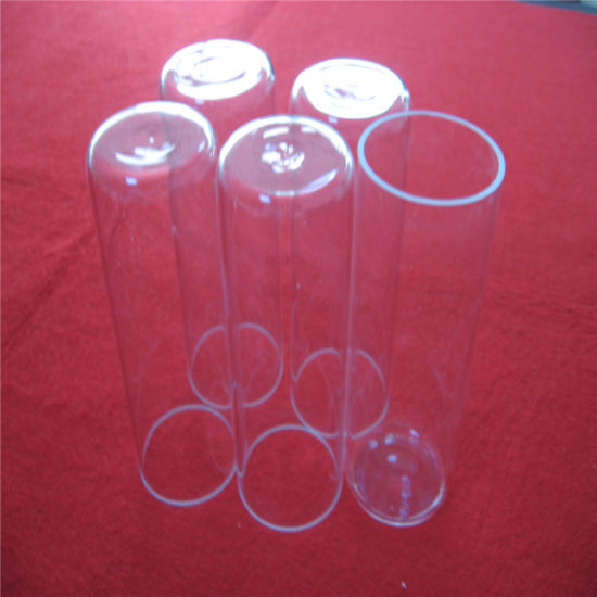 High Temperature Clear One End Sealed Quartz Tube pictures & photos
