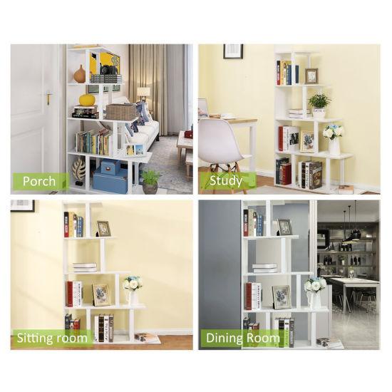 Living Room Or Hallway 5 Tier Shelf Ladder Corner Bookshelf