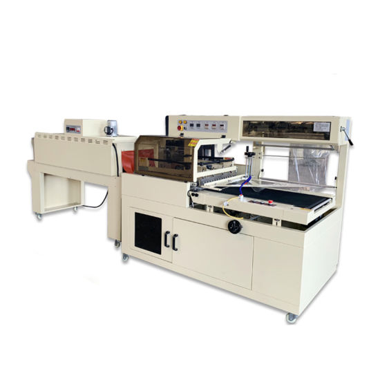 Box Cans Bags Automatic Film Packing Shrink Tunnel Heat Wrapping Machine