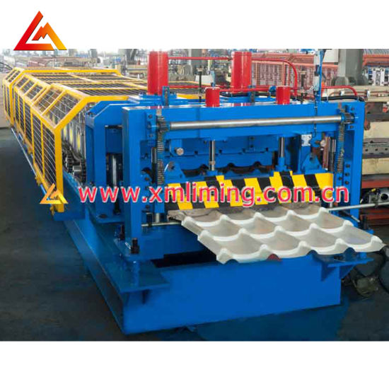 PLC Control Colored Cold Steel Glazed Roof Tile Making Machine /Glazed Roof Tile Machine/Step Tile Roofing Sheet Roll Forming Machine Equipment Factory Price