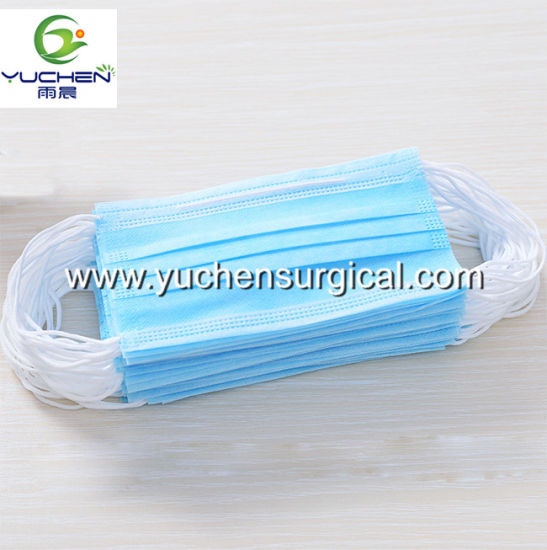 Disposable Blue Facemask Non Woven Face Mask High Quality 3ply