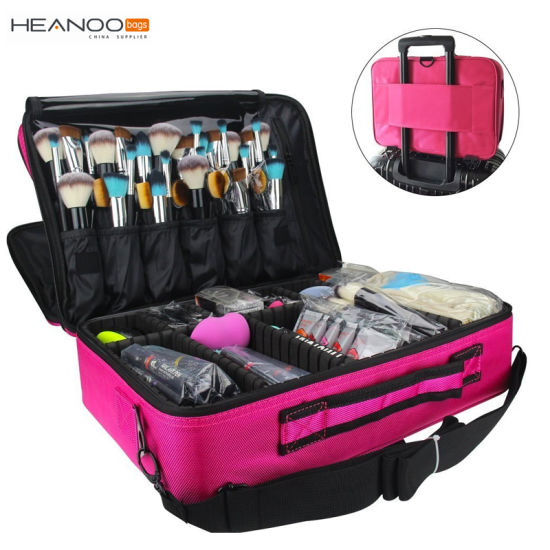 3 Layer Beauty Artist Storage Brush Box Makeup Train Case Cosmetic Organizer