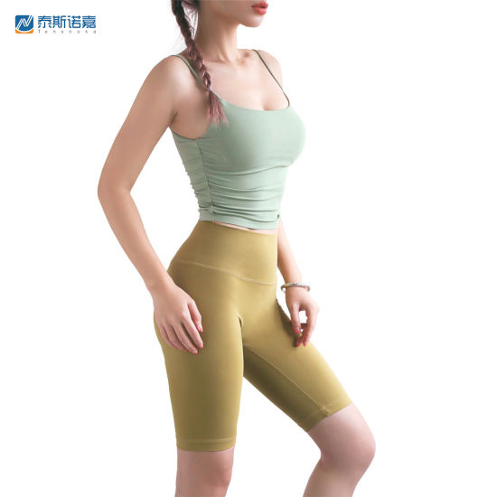 Wholesale Custom Logo High Quality Custom Logo Printed Yoga Bra Top Fitness Sports Wear Women Sports
