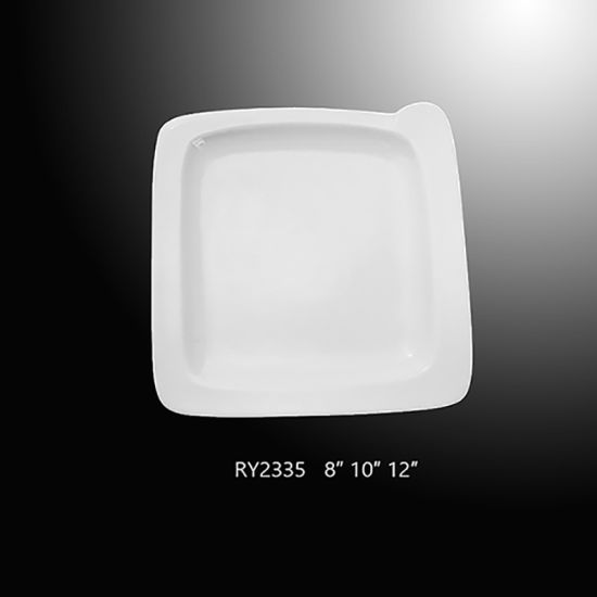 White Porcelain Square Dinner Plate Factory Directly Supply pictures & photos