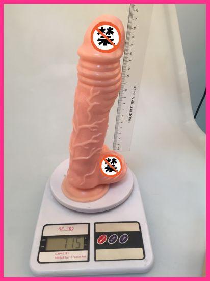 Wholesale Adult Novelty Sextoys Erotic Toy Silicone Plastic Realistic Huge Dildo