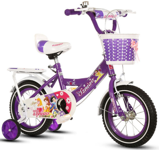 China Purple 14 Inch Children Kids Bike Bicycle For 8 Years Old