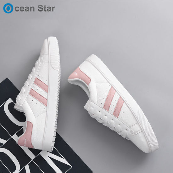 7dace51803a China 2019 New Style Custom Ladies Skateboard Shoes White Women Casual Shoes  - China Sneakers, Sports Shoes