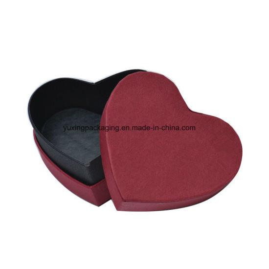 Customized Waterproof Packaging Heart Shaped Chocolate Paper Box