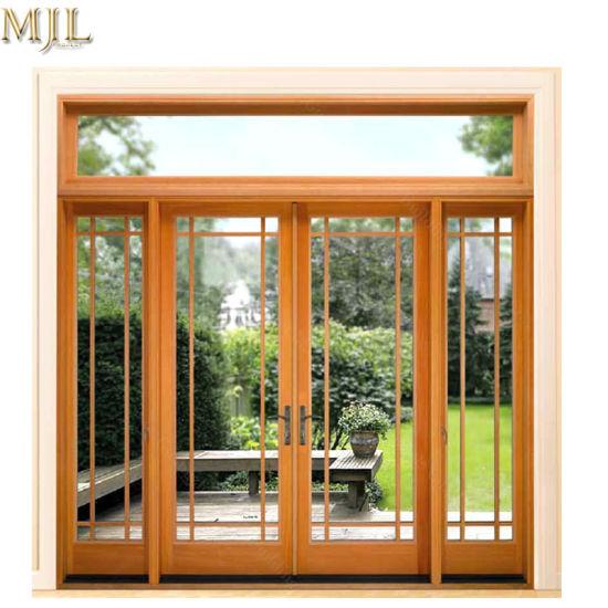 Carving Designs Aluminium Panels Fiber Glass Front French Sliding Door