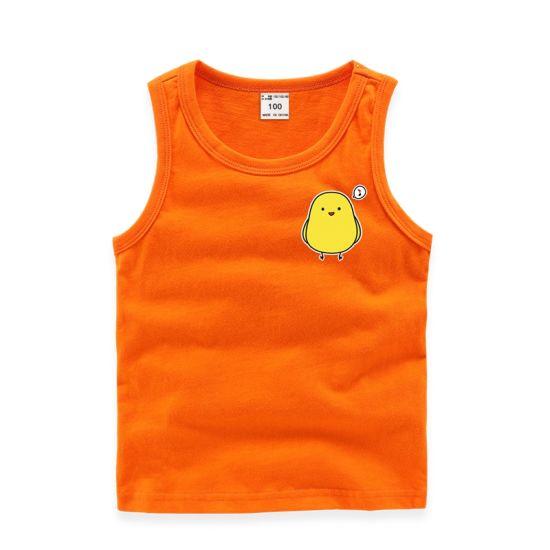 4f523720c600 China Sleeveless Cotton Breathable Boys Girls Printed T Shirt ...