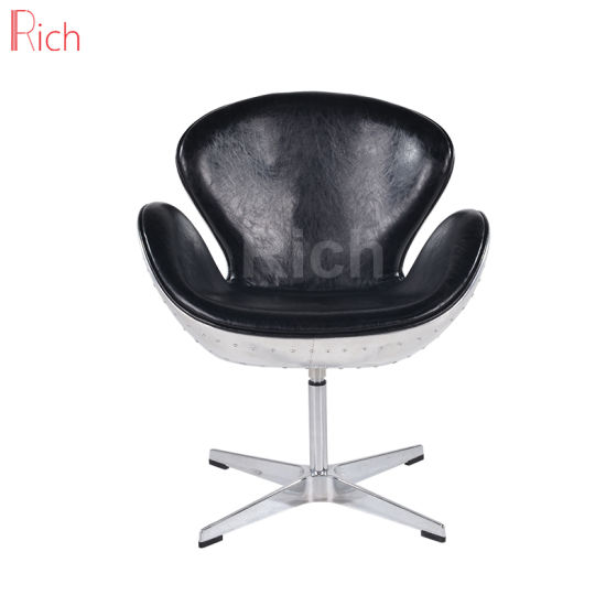 Classic Modern Metal Leisure Office Room Furniture Swan Accent Chair