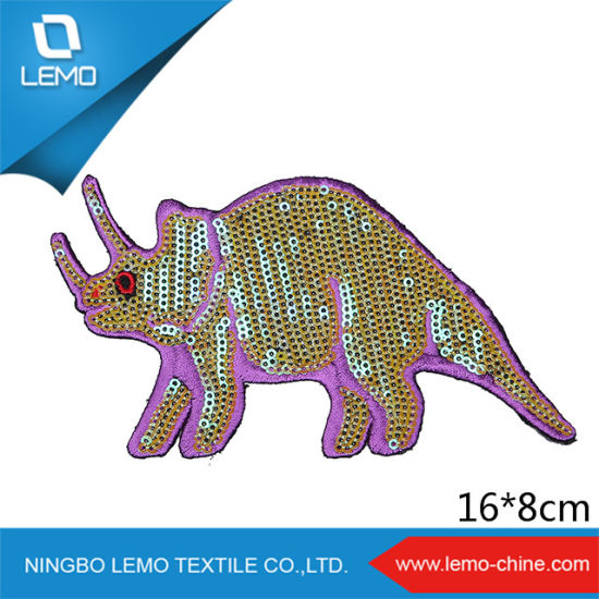 High Quality Customized Animal Embroidery Sequins Patch