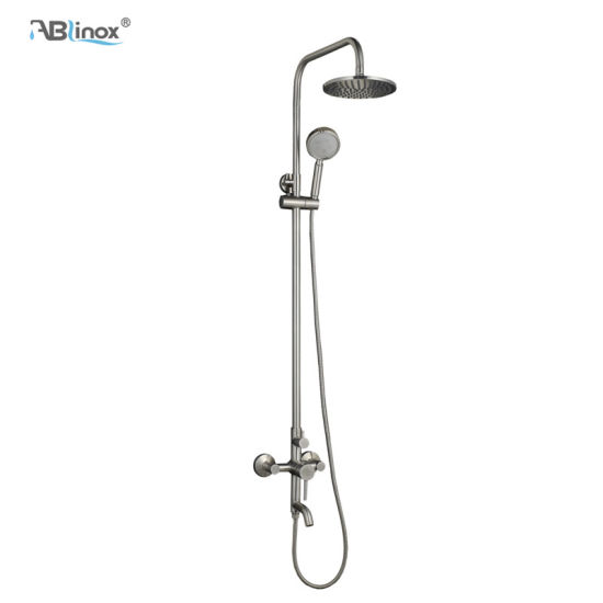 3 Function Round Shower Faucet Set Wall Mounted Rainfall Shower Head Mixer Tap