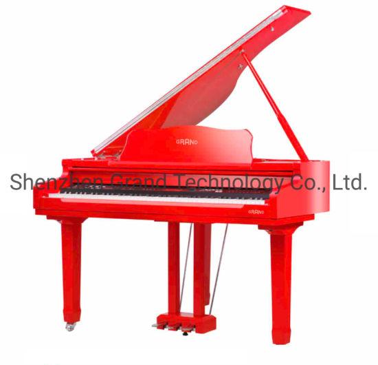 Wholesale 88 Keys Red Polish Digital Piano Triple Pedal Baby Grand Piano