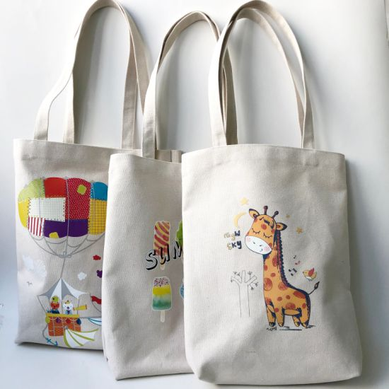 Custom Fashion Fabric/Recycle/Eco/Grocery/Calico Tote Gift Shopping Beach Canvas Cotton Bag