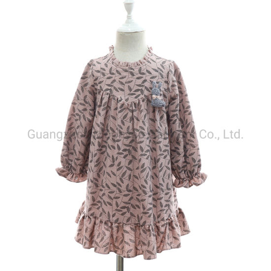 Paisley Printed Girl Skirt Dress Children Kid Clothes for Baby Wear Clothing