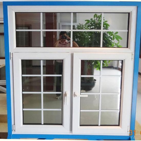 Guangzhou House PVC Double Glazing Doors and Windows/Vinyl Plastic Steel UPVC Laminated Double Glazed Glass Hurricane Impact Windows