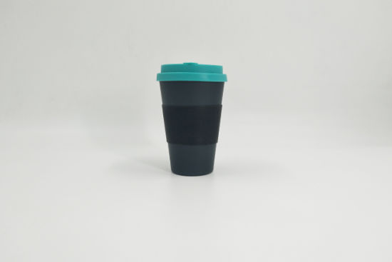 Biodegradable Bamboo Fiber Cup with Silicone Lid and Sleeve Eco-Friendly Bamboo Cup pictures & photos