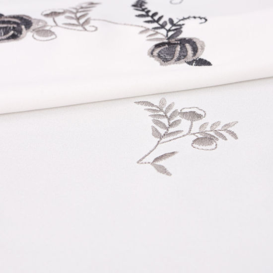 Embroidered Flower Cotton Lace Fabric pictures & photos