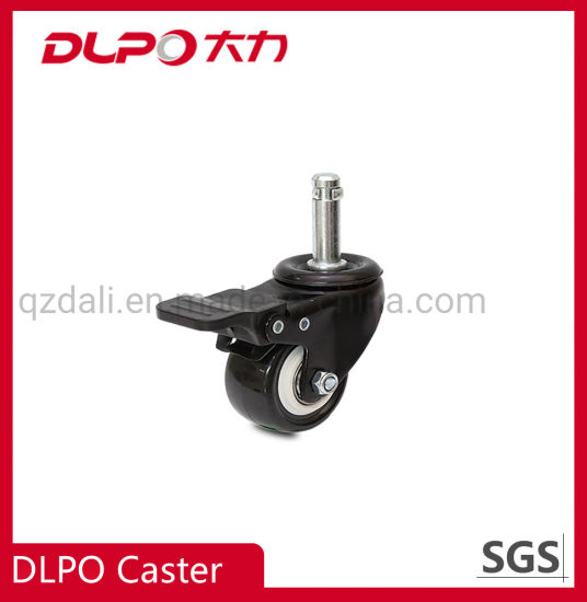 Light-Duty Black Plated TPR Anti-Static Shopping Carts Trolley Wheels Caster