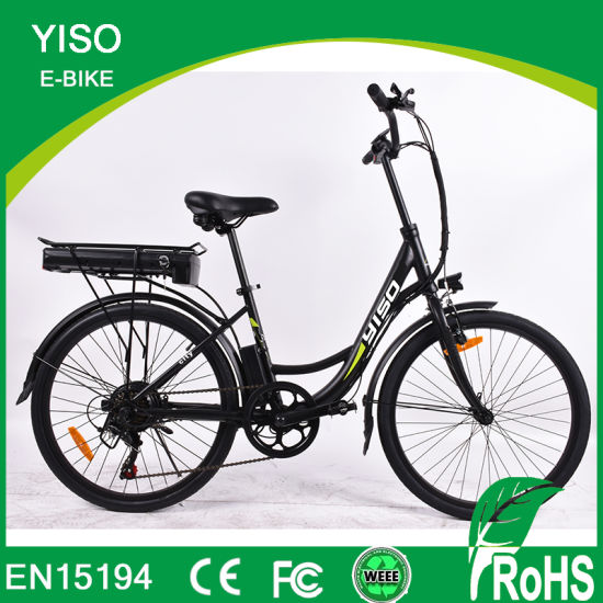 Single Speed Battery Bicycle, Fashion E Bicycle Powered by Lihium Battery