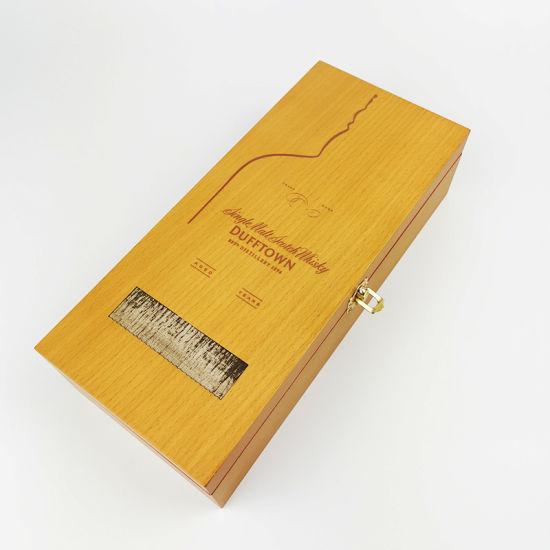 High Quality MDF Wood Grain Paper Matte Paint Watch Box