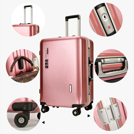 Wholesale Aluminum Frame Business Suitcase Fashion Leisure Travel Trolley Luggage pictures & photos