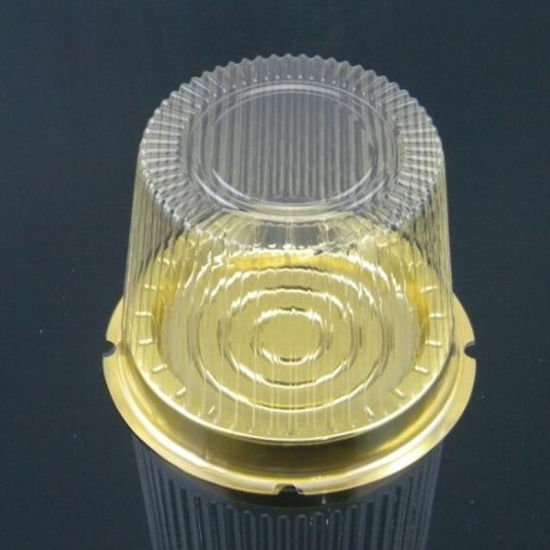 Disposiable Pet Plastic Cake Packaging Box with Dome Lid for Weeding