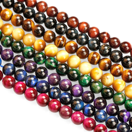Natural Semi Precious Stone Natural Gemstone Beads Tiger Eyes Beads for Jewelry Making
