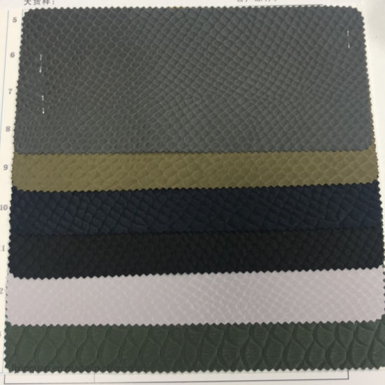 Rb319 New Design Fashion Polyester L Oxford Fabric PVC/PU Polyester Twill Fabric