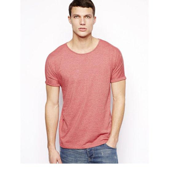 Custom High Quality Men's Fashion 100% Cotton Plain Round Neck T Shirts