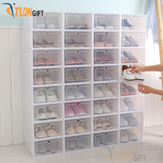 Thickened Transparent Shoe Plastic Storage Artifact Clamshell Drawer Type Box pictures & photos