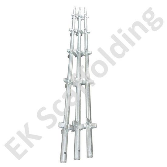 China Manufacturer BS1139 En74 Scaffolding System Vertical Kwikstage Standard Kwiksatge for Construction