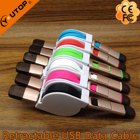2 in 1 Retractable Data and Charge USB Cable for iPhone, Android and iPad pictures & photos