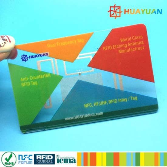 dual frequency EM4423 NFC business white RFID chip card