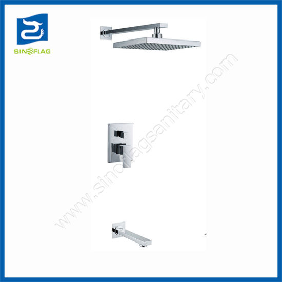 Concealed Rain Shower Set Tub Spout Faucet ABS Wall Mounted Shower