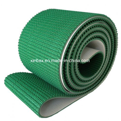 PVC Green Clipper Alligator Pattern High Friction Conveyor Belt pictures & photos
