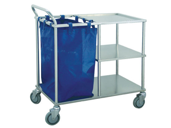 Stainless Steel Hospital Equipment Laundry Cart Dressing Trolley pictures & photos