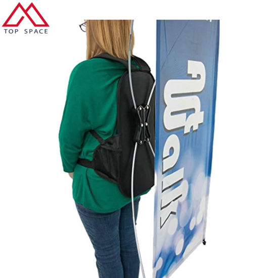 Various Shape Advertising Outdoor Backpack X Banner pictures & photos