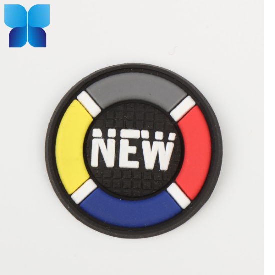 Hot Sell 2D/3D Multicolor Silicone Badge PVC Patch Rubber Label for Belt/Clothing