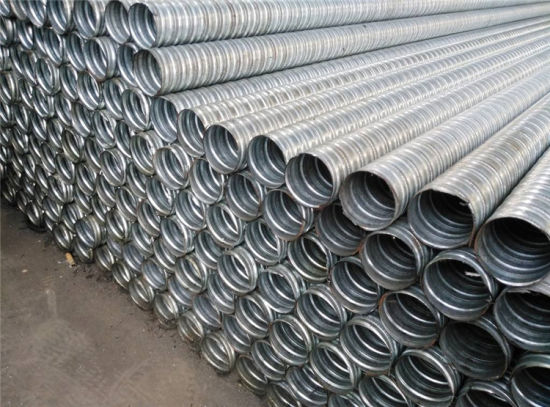 Galvanized Flexible Metal Tubing for Prestressed Concrete