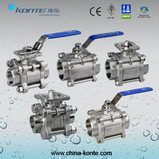 Stainless Steel Threaded 1PC/2PC/3PC Ball Valves with Ce pictures & photos