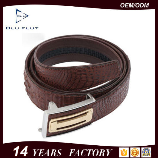 Luxury Genuine Crocodile Leather Man Waist Metal Leather Belt
