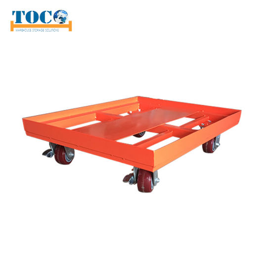 SGS Tested Euro Pallet Transport Trolley Carrier Dolly Cart