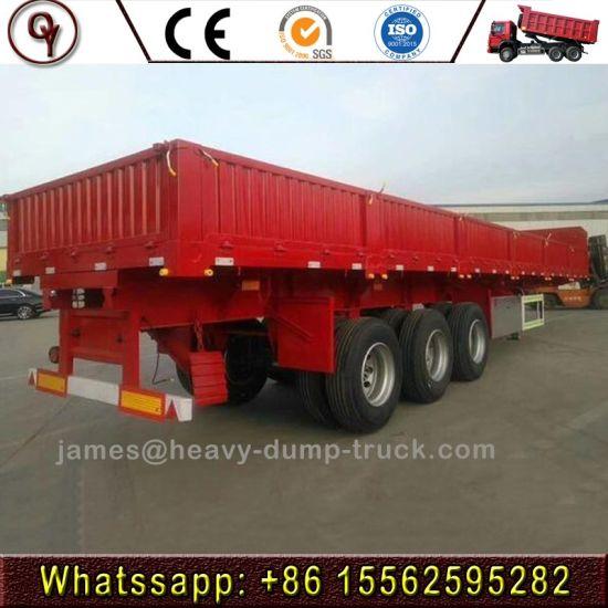 3/4 Axle Heavy Duty Side Wall/Side Board/Drop Side/Fence/Stake Utility Cargo Truck Semi Trailer with Container Lock