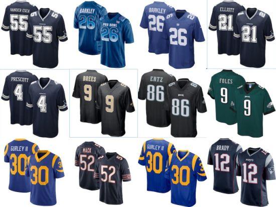 Wholesale Top-Selling Football League 32 Team Jerseys